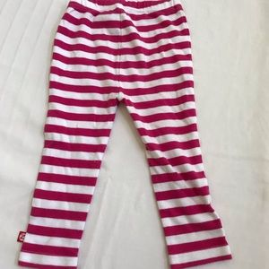 Zutano Bottoms - Zutano 18 mo Striped white & pink pants